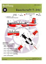 Bestfong Decals 1/48 BEECHCRAFT T-34C MENTOR Repulic of China Air Force