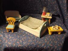 Dollhouse Minis Loving Family Lot of 5 Bed Rocking Couch Bed Tray End  Table Cha