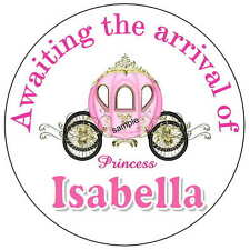 40 LITTLE PRINCESS BABY SHOWER FAVORS STICKERS FOR YOUR PARTY FAVORS