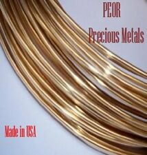 14k Yellow Gold Wire Solder, 22 Ga., Medium, 3 Inches, Cadmium-free, Made in Us
