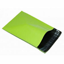 "10 LIME GREEN Mailing Postage Parcel Post Bags 4.5 x 6.5"" Self Seal 120x170 Neon"
