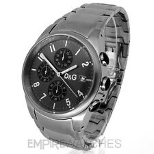 *NEW* DOLCE & GABBANA MENS D&G SANDPIPER STEEL - 3719770123 - WATCH RRP £190