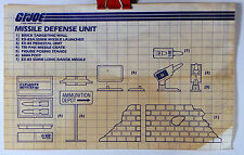 GI Joe 1984 Missile Defense Unit Original Instructions
