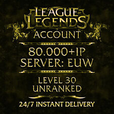League of Legends account Lol | Euw | level 30 | 30.000+ IP | unranked