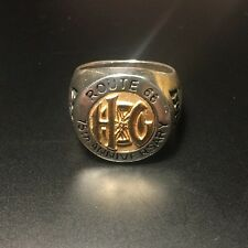 Harley Owners Group Route 66 75th Anniversary 18K and Sterling Silver Men's Ring