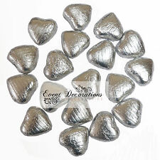 FOIL WRAPPED MILK CHOCOLATE HEARTS BEST QUALITY WEDDING PARTY TABLE FAVOURS