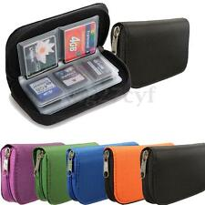 22pcs CF SD SDHC MS DS Micro SD Memory Card Case Storage Pouch Wallet Bag Holder