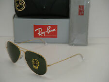RAY BAN 3026 AVIATOR GOLD FRAME RB 3026 L2846 62mm GREEN G-15 SUNGLASSES LARGE