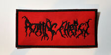 ROTTING CHRIST BLACK METAL EMBROIDERED PATCH VARATHRON AGATUS SAMAEL MOONSPELL