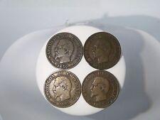1855,1856 CINQ CENTIMES EMPIRE FRANCAIS NAPOLEON III COINS