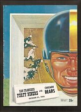 vintage 1954 SAN FRANCISCO 49ERS v CHICAGO BEARS Football PROGRAM-Blanda, Tittle