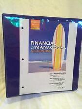 Financial Managerial Accounting college textbook binder Weygandt, Kimmel, Kieso