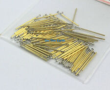 100 Pieces P50-E3 Dia 0.68mm Length 16mm Spring Test Probe Pogo Pin