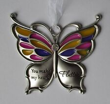B You make my heart flutter love BUTTERFLY WISHES Ornament ganz car charm