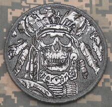 DEATH SKULL WAR CHIEF INDIAN USA ARMY ACU VELCRO® BRAND FASTENER PATCH