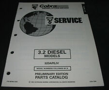 Parts Catalog OMC Cobra Stern Drives 3.2 / 3,2 Diesel Models Stand August 1992!