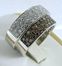 GIORGIO VISCONTI 18 KT WHITE GOLD NATURAL CHAMPAGNE AND WHITE DIAMONDS RING 7