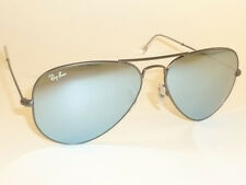 ray ban 58mm aviator 9cle  New RAY BAN Aviator Sunglasses Matte Gunmetal RB 3025 029/30 Silver Mirror  58mm