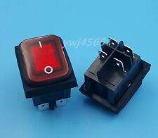 1Pcs Waterproof Rocker Switch 4Pin Red Lamp Light DPST ON/OFF Good Quality