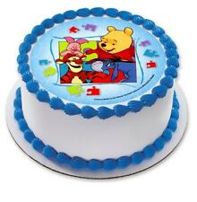 Winnie the Pooh Bear Edible Kids Birthday Party Cake Decoration Topper Image