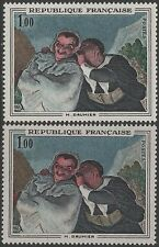 "FRANCE TIMBRE N° 1494 "" DAUMIER CRISPIN SCAPIN VARIETE COULEUR"" NEUFxx TTB K133A"