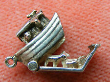 VINTAGE STERLING SILVER CHARM NOAHS ARK OPENS TO THE ANIMALS