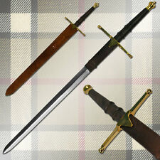 "52"" MASSIVE Scottish William Wallace Claymore Broadsword Sword & Leather Sheath"