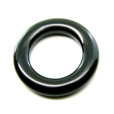 23.5Ct Natural Black Onyx Ring 5mm