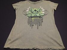 New Authentic WWE Women's DX Army Top Rope Shirt Premiere Tee WWF HHH
