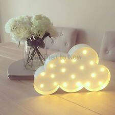 Cloud LED Metal Light Child's Children Battery Operated Marquee Night Wall Lamp