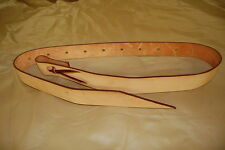 """RIDERS CHOICE LEATHER TIE STRAP 72"""" TAN FREE SHIP MADE IN OUR SHOP ALABAMA NEW"""