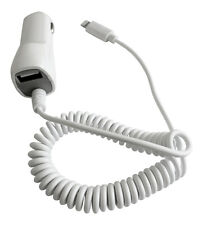 New In Car Charger For Apple iPhone 6/6S/6S Plus 5/5S/5C iPad 4 Mini - White