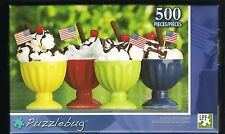 Ice Cream Sundae Afternoon 500 piece Puzzlebug Candy Jigsaw Puzzle NIB!
