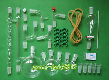 Lab Chemistry Glassware Kit With 24/40 Glass Ground Joint,29PCS,Free Shipping