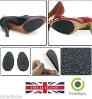 Pair of Self-Adhesive Anti-Slip Stick on Shoe Grip Pads Rubber Sole Protectors