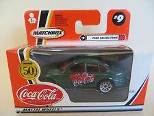 MATCHBOX 'COCA COLA FORD FALCON FORTE GREEN. #9. 50th ANNIVERSARY. MIB/BOXED/NEW