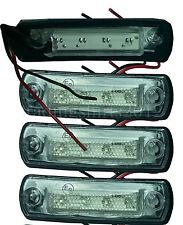 New 4x Front Side Marker LED Lights for MAN TGA Mercedes Travego 24V (4 LEDs)