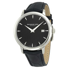 Raymond Weil Toccata Black Dial Black Leather Mens Watch RW-5488-STC-20001