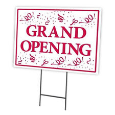 GRAND OPENING OUTDOOR DOUBLE SIDED SIDEWALK/LAWN/YARD SIGN