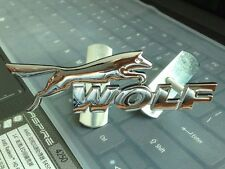 3D Chrome Metal Auto Grill Front Grille Emblem Badge Wolf Decal For Fiesta Focus