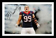 JJ WATTS - HOUSTON TEXANS AUTOGRAPHED SIGNED & FRAMED PP POSTER PHOTO