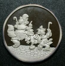"1990 Walt's Disney Pinocchio 50th "" Hi Diddle Dee Dee "" 1 oz Proof Silver Coin"