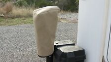 SMALL SIZE TAN Electric Trailer Tongue Jack Cover - SUNBRELLA! Barker 3500 etc