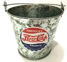 """Japan Import - Vintage 1993 America's Pepsi Cola Mini Tin Bucket """"New"""""""