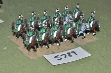 25mm napoleonic  light cavalry 12 cavalry (5789) metal painted