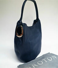 RRP$495 Brand New OROTON Kiera B Hobo Handbag Shoulder Bag Leather Navy