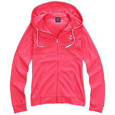 NII Womens Casual Lightweight Hooded Zip Up Jacket Pink Slim Fit Size XS NWT