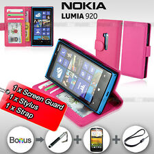 PINK Premium Leather Stand ID Wallet Flip Case Cover For Nokia Lumia 920 SYDNEY