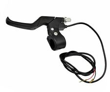Black Plastic Left Side Brake Lever with Wires for Razor Electric Scooter