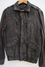 All Saints  Washed Black Removable insert Gilet Military Bomber Jacket M 38 New